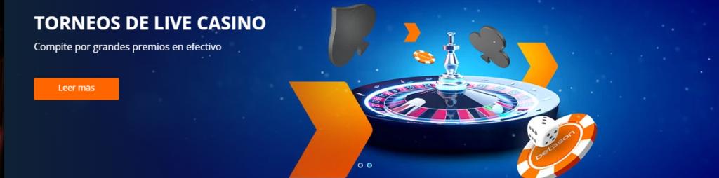 torneos live casino betsson perú